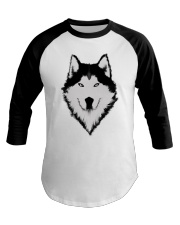 Cool Wolf Face White And Black Color Baseball Tee thumbnail