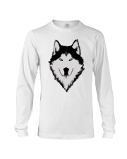 Cool Wolf Face White And Black Color Long Sleeve Tee thumbnail