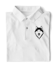 Cool Wolf Face White And Black Color Classic Polo thumbnail