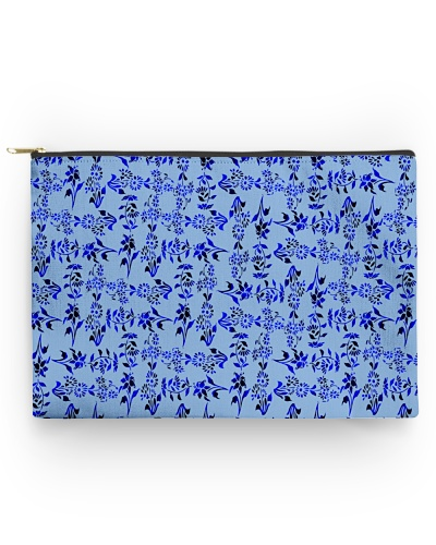 Classic And Cool Looking Blue Flower Pattern