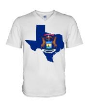 MIchigander Or Texan V-Neck T-Shirt thumbnail