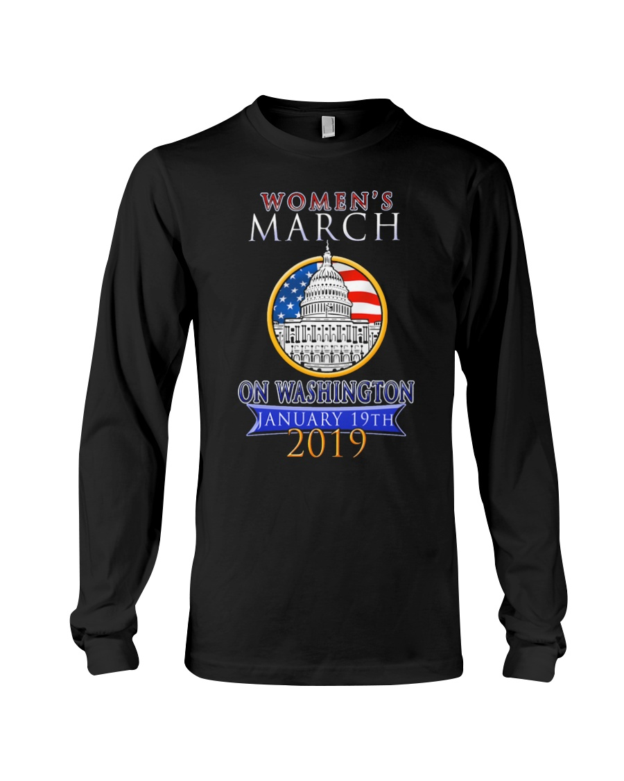 Womens 2019 March Wave on Washington DC 5 Long Sleeve Tee