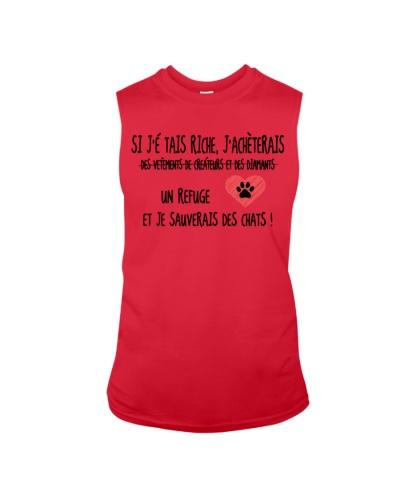 Cat shirt si je' tais riche