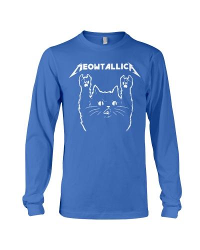 Cat shirt meowtallica death thrash black  metal