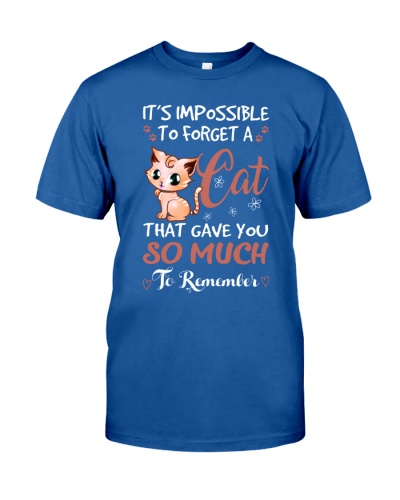 Cat shirt  i'm possible to forget a cat
