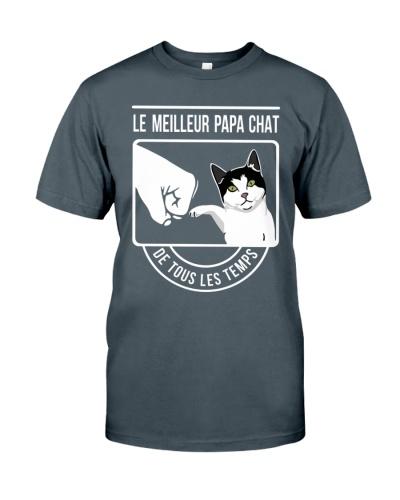 Cat shirt le meilleur papa chat