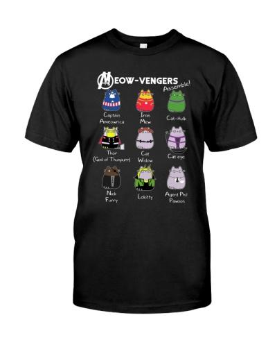 Cat shirt meowvengers save the planet