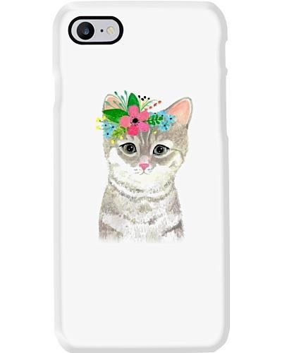 Cat chat chat avec fleur