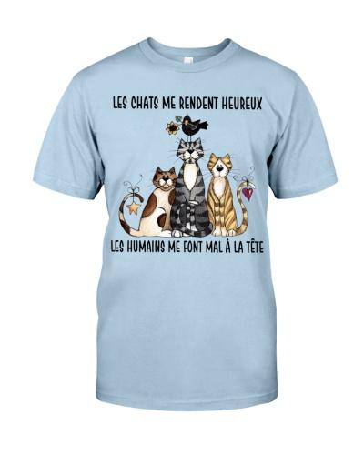 Cat shirt les chats me rendent heureux