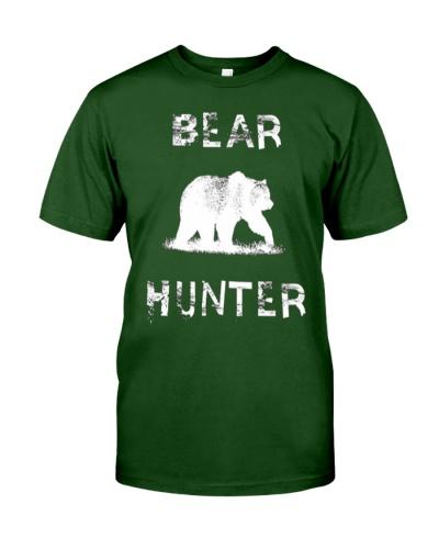 Bear Hunter Hunting Nature Wildlife Distressed Vin