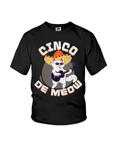 Cinco De Meowo Cat Distressed Cinco De Mayo