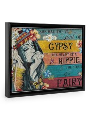 The Heart Of A Hippie 14x11 Black Floating Framed Canvas Prints thumbnail