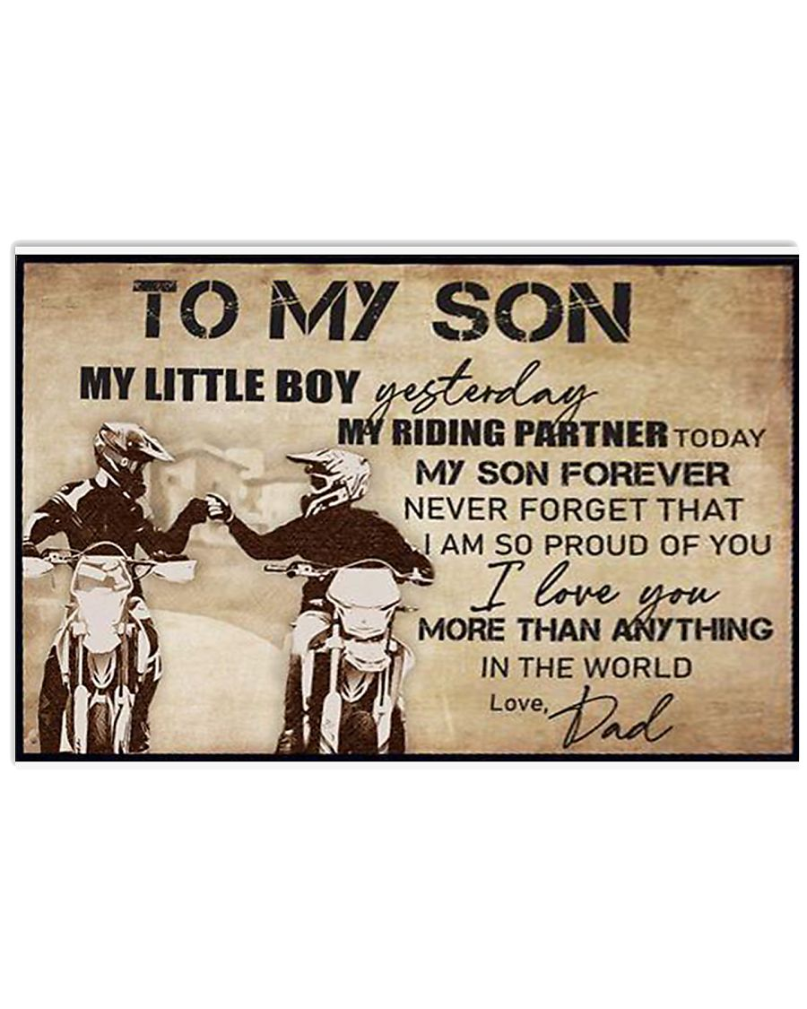 To My Son My Little Boy 17x11 Poster