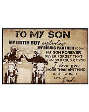 To My Son My Little Boy 17x11 Poster front