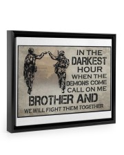 In The Darkest Hour Brother 14x11 Black Floating Framed Canvas Prints thumbnail