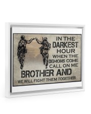 In The Darkest Hour Brother 14x11 White Floating Framed Canvas Prints thumbnail