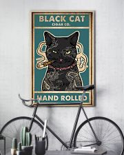 Cat Black Cat Cigar Co Hand Rolled vintage poster 11x17 Poster lifestyle-poster-7