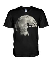 S02 0901 DASHUND V-Neck T-Shirt thumbnail