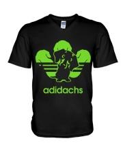 Adidachs Dachshund Dog T-shirt V-Neck T-Shirt thumbnail