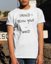 Blow Blowing Flirting Dating Quote - Gift Idea Classic T-Shirt apparel-classic-tshirt-lifestyle-29