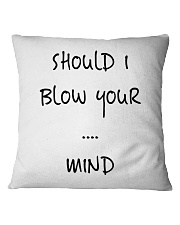 Blow Blowing Flirting Dating Quote - Gift Idea Square Pillowcase thumbnail