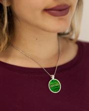 green Metallic Circle Necklace aos-necklace-circle-metallic-lifestyle-1