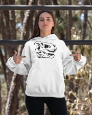 Dinosaur Animal Lover Animals Skull Gift Idea Hooded Sweatshirt apparel-hooded-sweatshirt-lifestyle-05