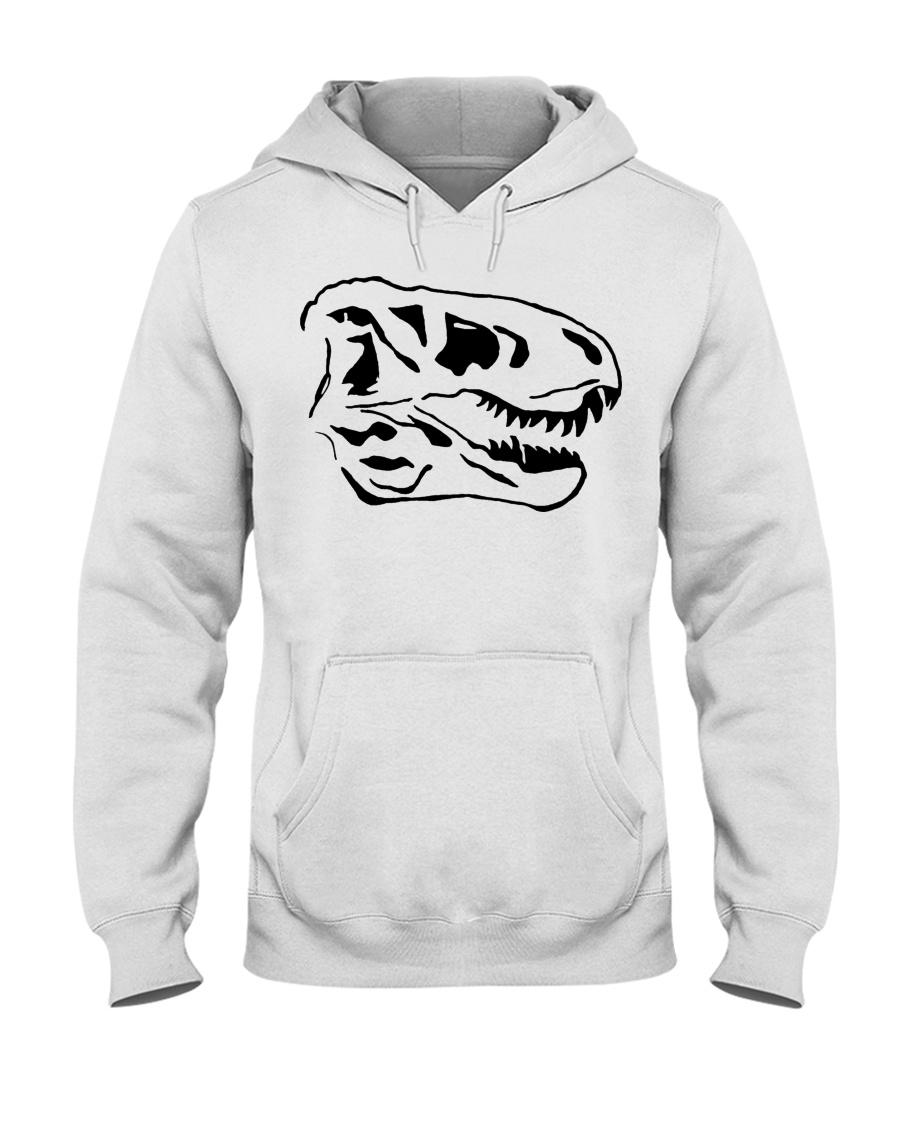 Dinosaur Animal Lover Animals Skull Gift Idea Hooded Sweatshirt