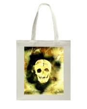Skull in Neon Yellow Gift Idea Tote Bag thumbnail