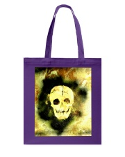 Skull in Neon Yellow Gift Idea Tote Bag front