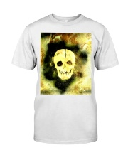 Skull in Neon Yellow Gift Idea Classic T-Shirt thumbnail