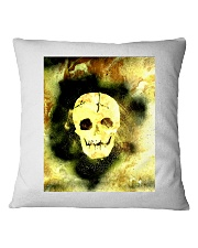 Skull in Neon Yellow Gift Idea Square Pillowcase thumbnail
