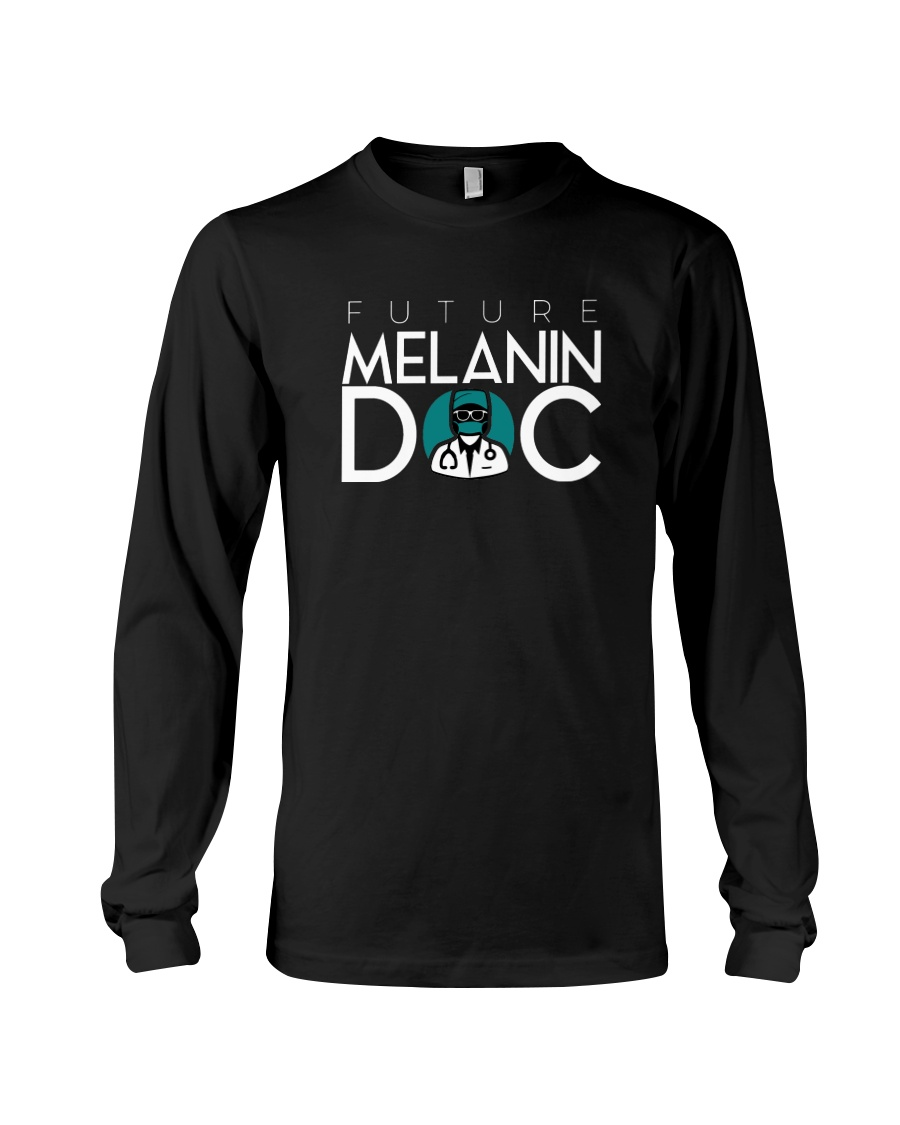Future Melanin Black Long Sleeve Long Sleeve Tee