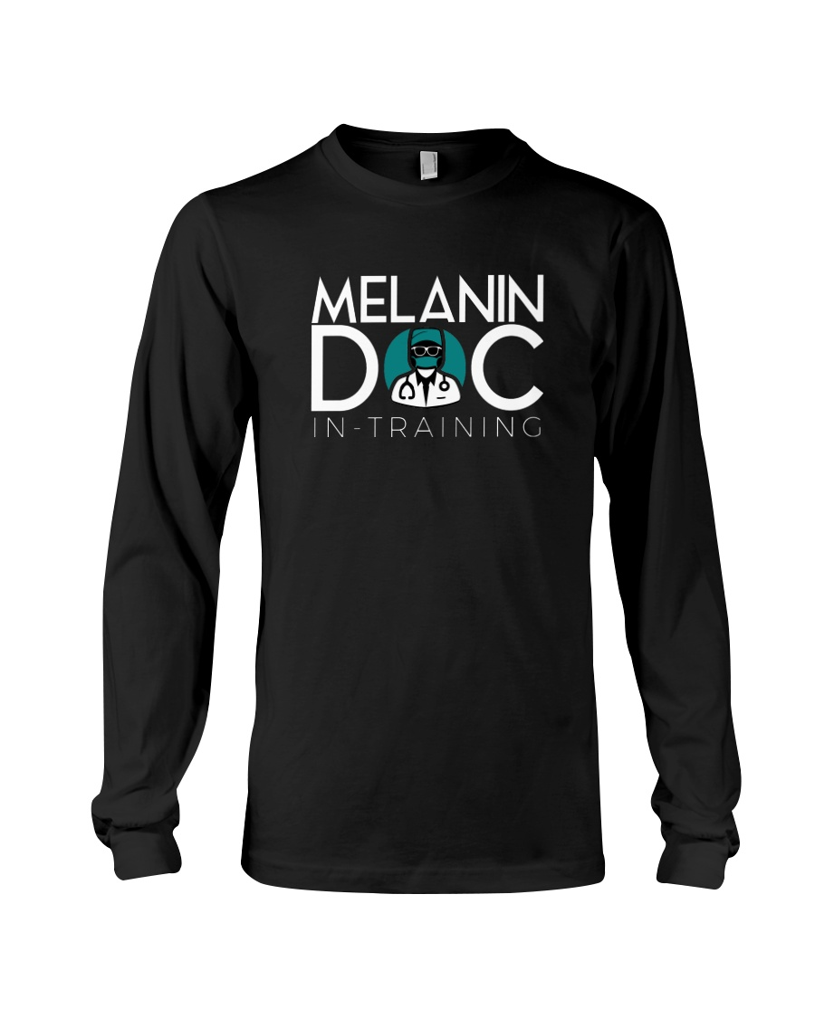 Melanin-in-training Black Long Sleeve Long Sleeve Tee