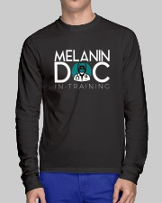 Melanin-in-training Black Long Sleeve Long Sleeve Tee lifestyle-unisex-longsleeve-front-1