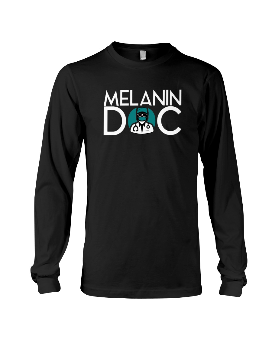 Melanin Black Long Sleeve Long Sleeve Tee