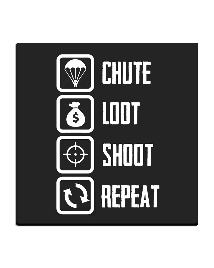 Chute Loot Shoot Repeat Square Coaster