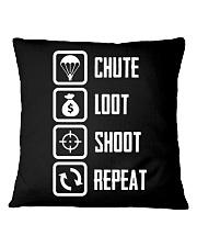 Chute Loot Shoot Repeat Square Pillowcase thumbnail