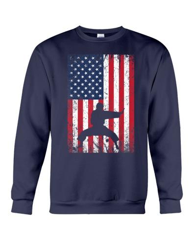 American Flag Karate 4th July Te
