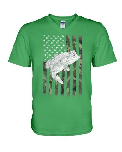 American Camouflage USA Flag Bass F