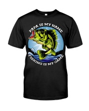 Mens Grandfather Gift Fish Tshirt Retired Classic T-Shirt front