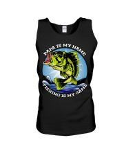 Mens Grandfather Gift Fish Tshirt Retired Unisex Tank thumbnail
