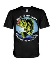 Mens Grandfather Gift Fish Tshirt Retired V-Neck T-Shirt thumbnail