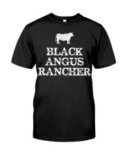 Black Angus Rancher Shirt Cattle  Classic T-Shirt front