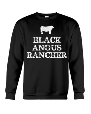 Black Angus Rancher Shirt Cattle  Crewneck Sweatshirt thumbnail