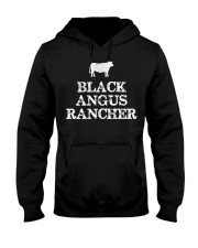 Black Angus Rancher Shirt Cattle  Hooded Sweatshirt thumbnail