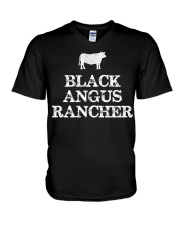 Black Angus Rancher Shirt Cattle  V-Neck T-Shirt thumbnail
