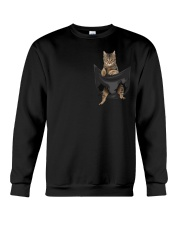Tabby cat in pocket Crewneck Sweatshirt thumbnail