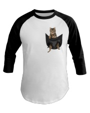 Tabby cat in pocket Baseball Tee thumbnail