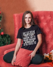 DON'T FLIRT WITH ME - I AM PROPERTY OF MY HUSBAND Ladies T-Shirt lifestyle-holiday-womenscrewneck-front-2